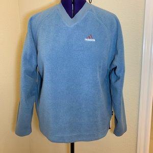 Vintage Adidas Fleece V-Neck Pullover